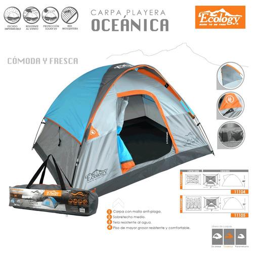carpa doble tendido de playa fácil armado 2 personas camping