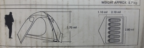 carpa doite iglu pro altai 6 personas 3000mm campig