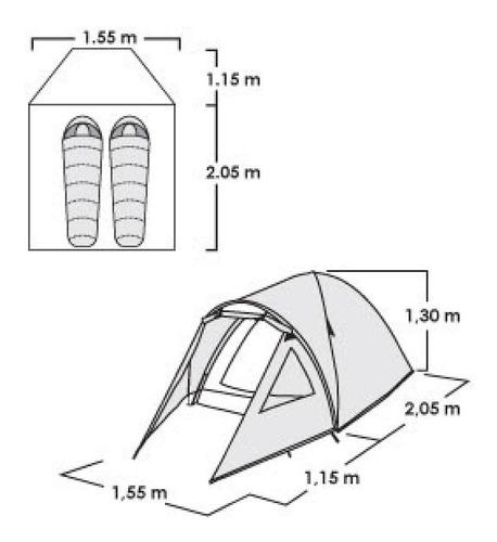 carpa doite sunterra exr 2 personas 3000mm iglu impermeable