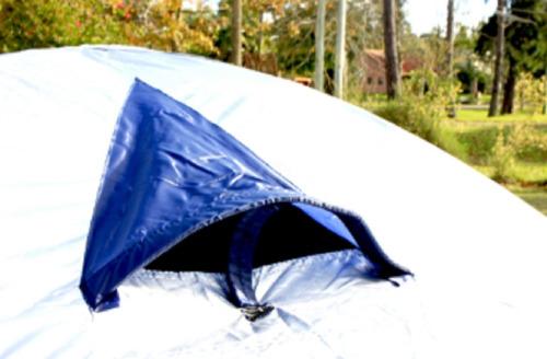 carpa escape para 4 personas c/ alero dome aluminizada dvt
