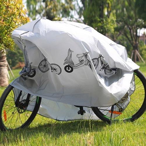 carpa funda lona cubre moto bicicleta con diseño