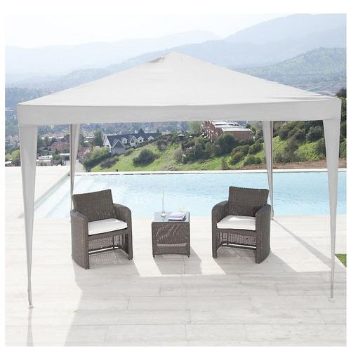 carpa gazebo parasol blanco 3 x 2 x2,40 toldo sol sombrilla
