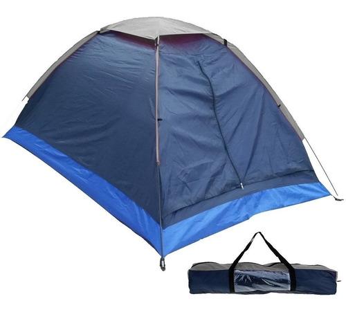 carpa iglú 2 personas p/ camping 2.00x1.45m + bolso - el rey