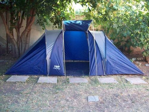 carpa iglu 4/6 personas impermeable 2 habitaciones + comedor