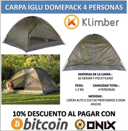 carpa iglu para cuatro personas camping acampar turismo