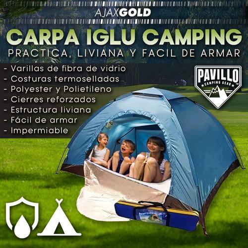 carpa iglu personas camping