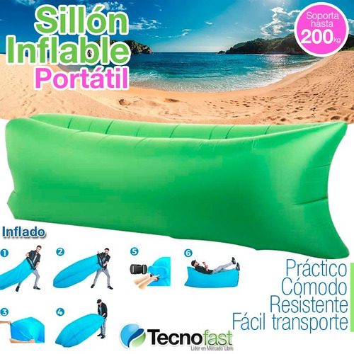carpa iglu playa 2 pers impermeable + 2 puff sillon inflable