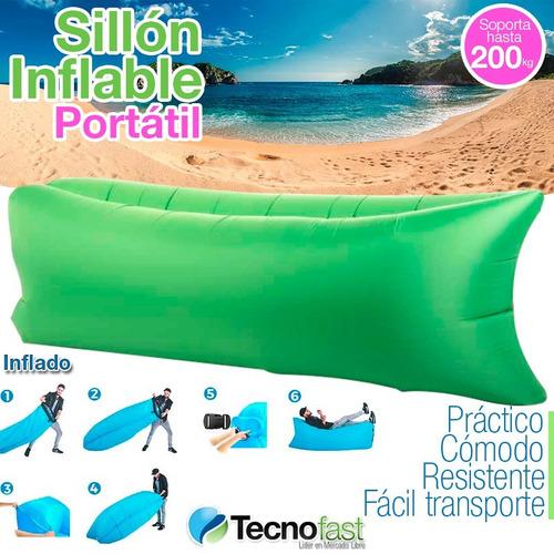 carpa iglu playa 2 personas impermeable + 2 puff sillon infl
