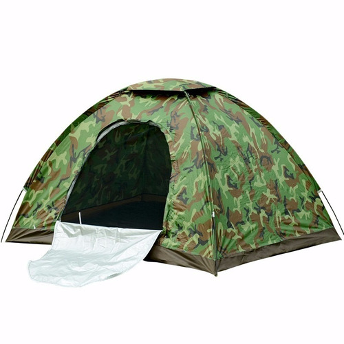 carpa impermeable de camping para 4 personas camuflada