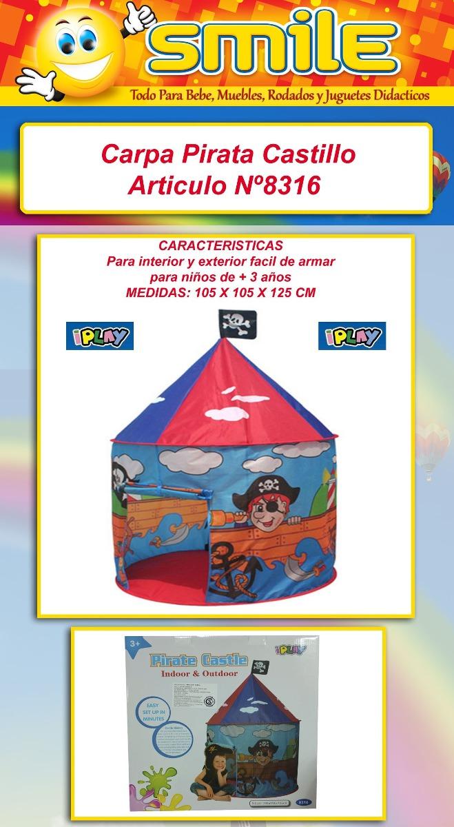 Carpa Indio Circo Infantil Pirata Autoarmable Pelotero Smile  # Castillo Muebles Jujuy