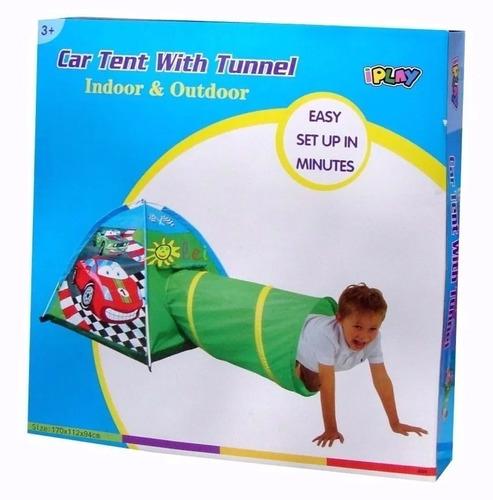 carpa  infantil de juegos auto con tunel iplay art.8331