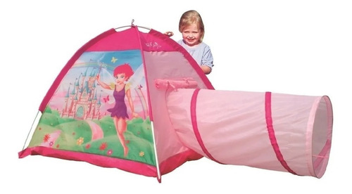 carpa infantil haditas princesas casita con tunel iplay 8321