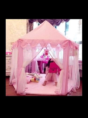 carpa infantil niña castillo princesas portatil