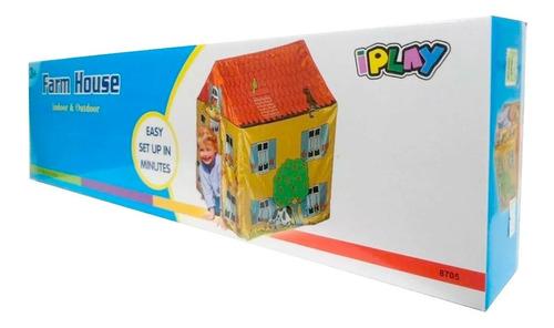 carpa intantil casita para niños granja divertida hasta 8añs