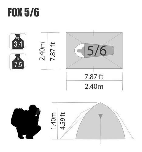 carpa ntk fox 5/6 personas envíos gratis a todo el país