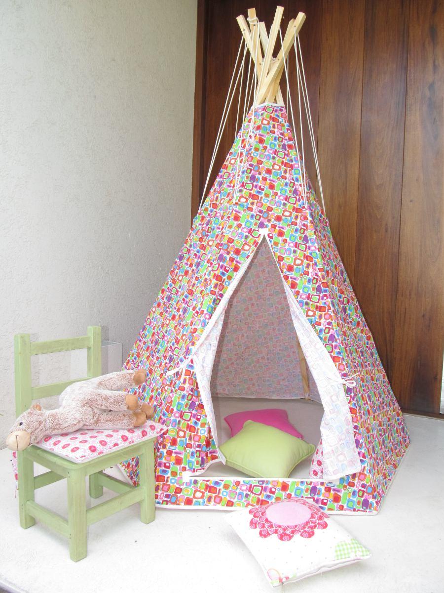 Carpa Para Niños Niñas Tipi Juegos Infantiles Indio Jardin ...