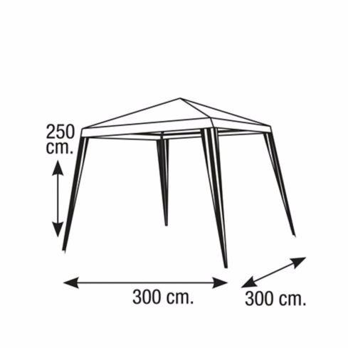 carpa parasol blanco toldo terraza o garaje en finca 3x3 mts