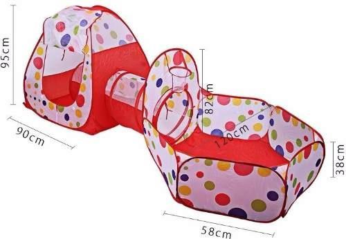 carpa piscina casa túnel plegable infantil niños / 42715