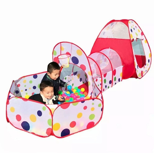 carpa piscina casa túnel plegableinfantil niños / factorynet
