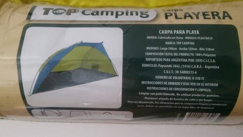 carpa playa playera medio iglu top camping la mas grande
