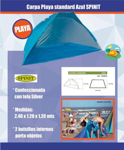 carpa playera spinit playa standard azul