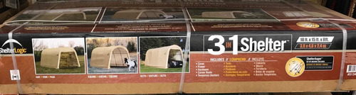 carpa shelterlogic 3-1  color crema de 3.0x4.6x2.4 mts