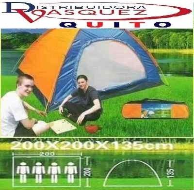 carpa tiend de camping para 4 personas impermiable reforzada
