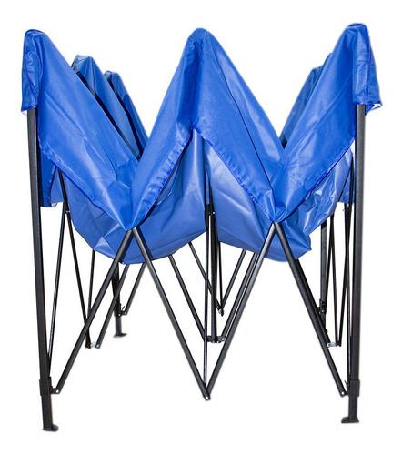 carpa toldo 3x4.5 reforzado plegable impermeable jardin azul