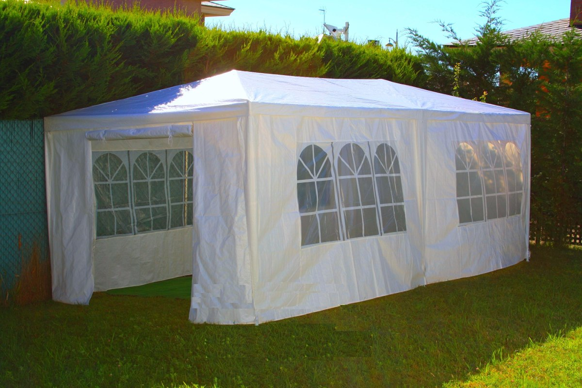 carpa toldo de 6 x 3 mts paredes laterales ventanas multiuso 2 en mercado libre. Black Bedroom Furniture Sets. Home Design Ideas