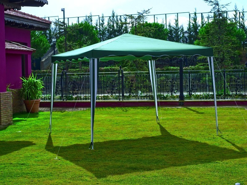 Carpa Toldo Poliester 3x3 Exterior Eventos Camping Tienda - Toldos-para-exterior
