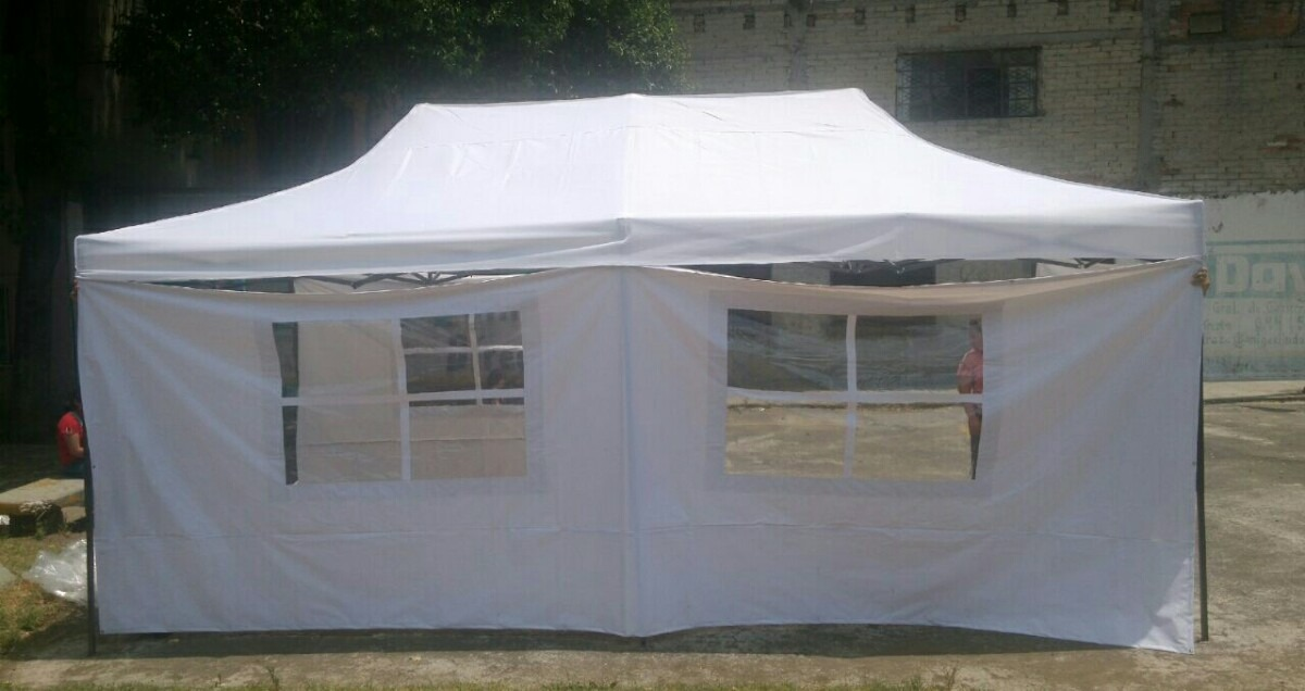 carpa toldo retractil 6x3 metros con paredes 5