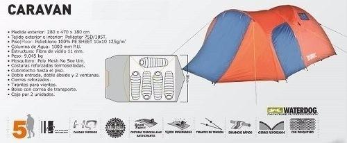 carpa waterdog caravan 5 personas