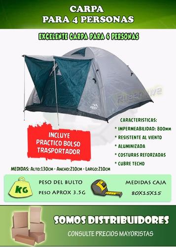carpas camping personas