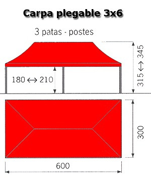 carpas de 3x4 retractiles con lona impermeable.