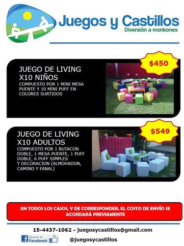 carpas livings juegos plaza blanda castillo inflables metego