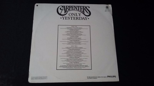 carpenters only yersterday greatest hits lp vinilo rock
