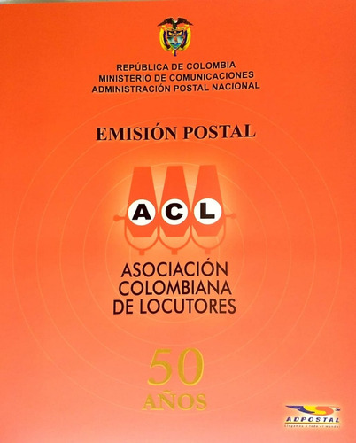 carpeta 50 años acl - 2004 -filatelia-estampillas