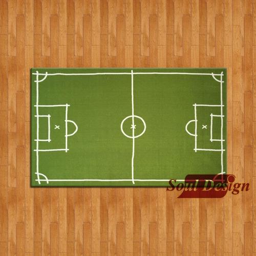 carpeta alfombra cancha futbol 100 x 140 cm antideslizante infantil soul