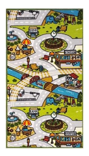 carpeta alfombra infantil calles pista 67 x 120 cm m.17 soul
