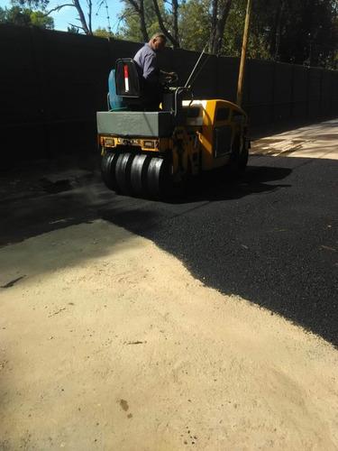 carpeta asfáltica en caliente. bacheo pavimento - reparación