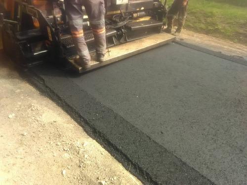 carpeta asfáltica en caliente. bacheo pavimento -reparación