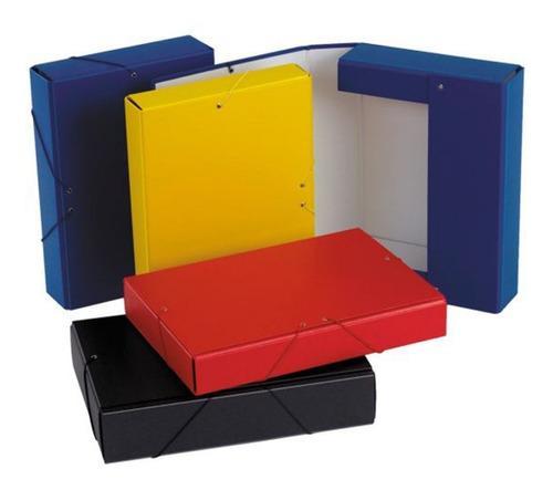carpeta caja de archivo prespan color  c /elastico 5 cm