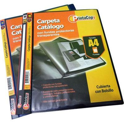 carpeta catalogo a4 10 fundas protectoras negra printacopy