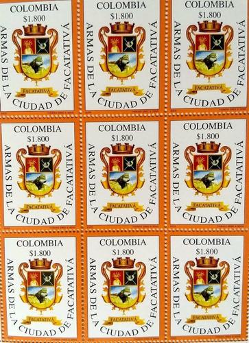 carpeta centenario facatativá 2005-filatelia-estampillas