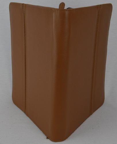 carpeta con cierre tamaño carta en piel vacuno kuerissimo