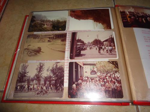 carpeta con lote de fotos y postales de china año 1979 +++