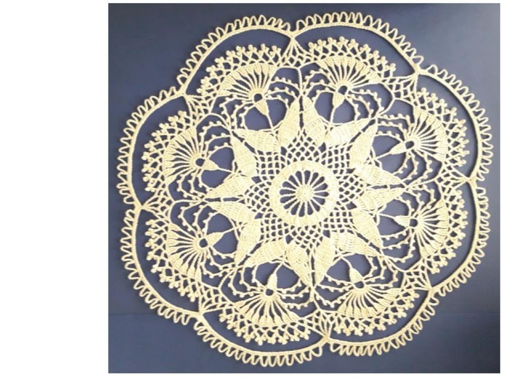 Carpeta Crochet Redonda Blanca Diámetro 48 Cm - $ 200,00 en Mercado ...
