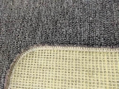 carpeta de alfombra 0.90 x 1.96 orillado gris claro