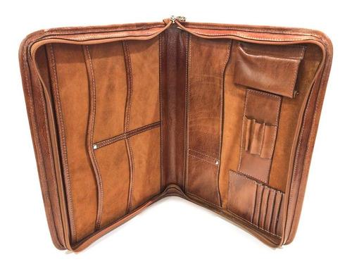 carpeta de cuero oficio cierre porta notebook 15.6  mod 0553