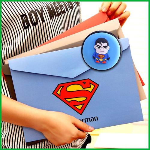 carpeta de superman + monedero + envío gratis